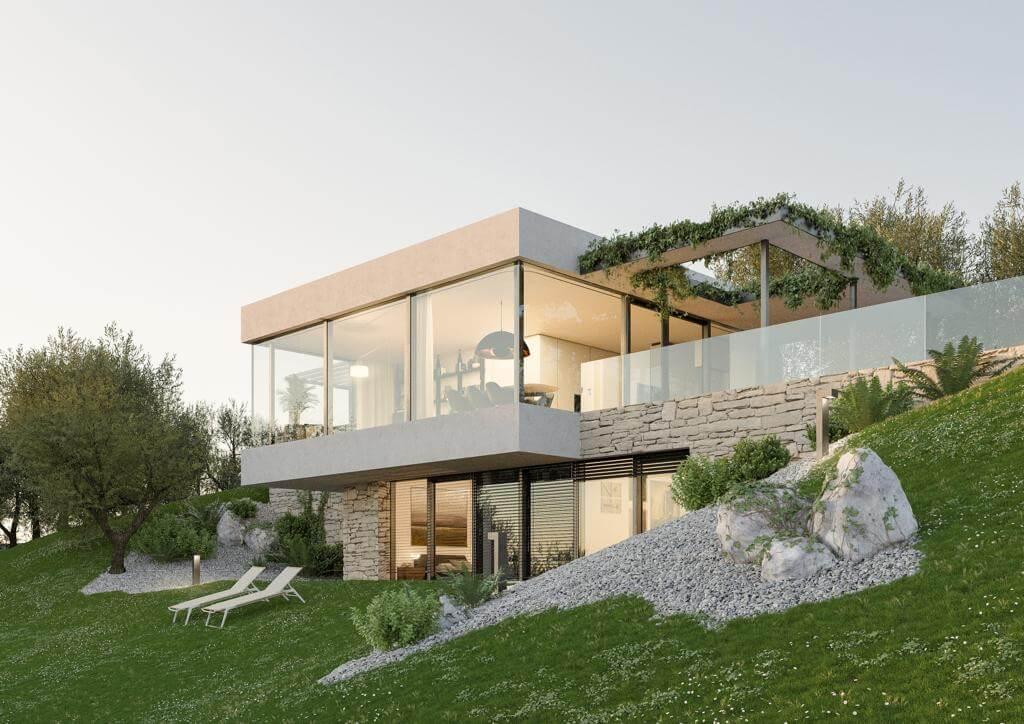 Torri del Benaco: Villa esclusiva con Infinitypool