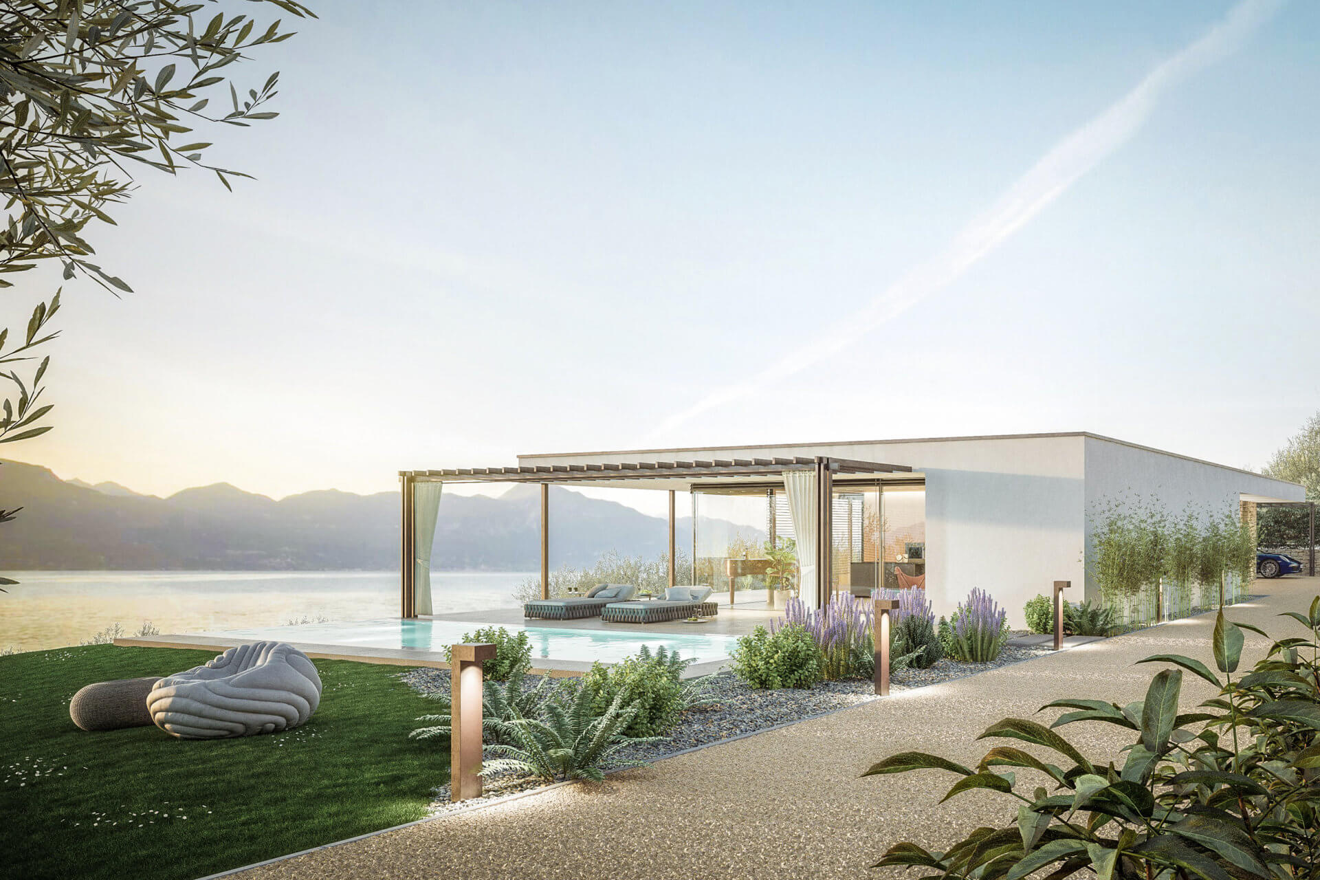 Torri del Benaco: Villa mit Traumblick auf den Gardasee